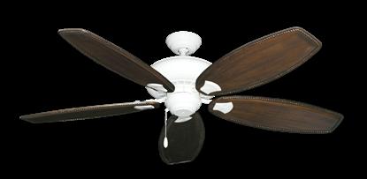 "Picture of Tiara Pure White with 60"" Series 525 Arbor Dark Walnut Blades"