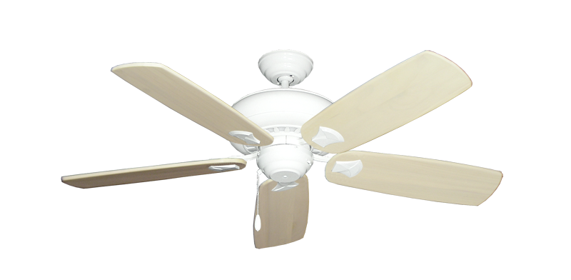 """Picture of Tiara Pure White with 52"""" Series 710 Arbor Whitewash Blades"""