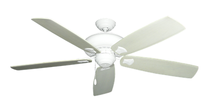 """Picture of Tiara Pure White with 60"""" Series 725 Arbor Whitewash Blades"""