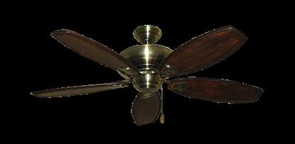 """Picture of Tiara Antique Brass with 52"""" Series 550 Arbor Dark Walnut Blades"""