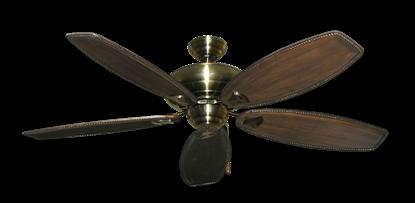 """Picture of Tiara Antique Brass with 60"""" Series 525 Arbor Dark Walnut Blades"""
