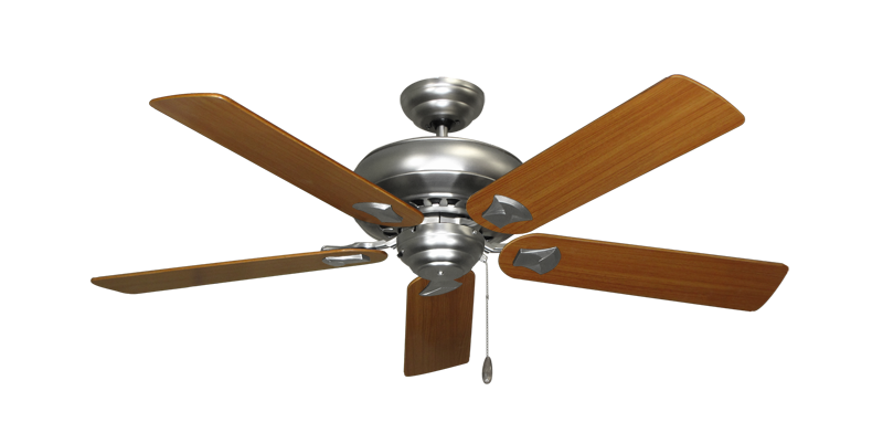 "Picture of Tiara Satin Steel with 52"" Teak Blades"