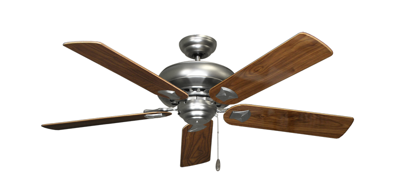 """Picture of Tiara Satin Steel with 52"""" Walnut Gloss Blades"""