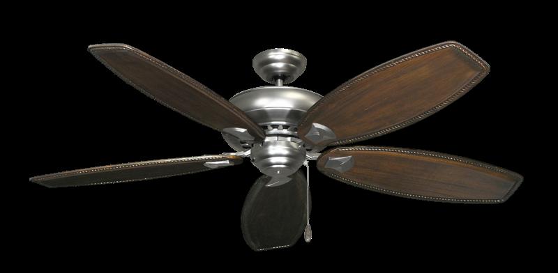 "Picture of Tiara Satin Steel with 60"" Series 525 Arbor Dark Walnut Blades"
