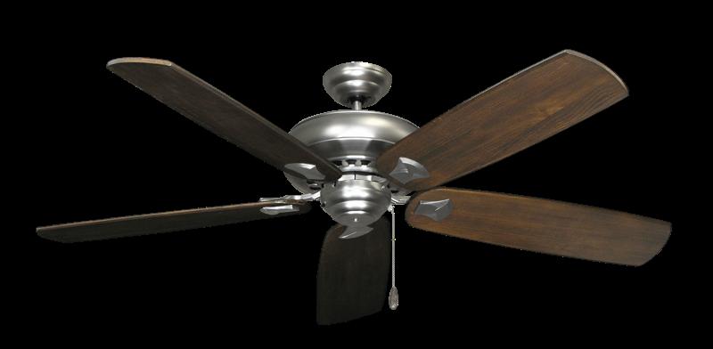"Picture of Tiara Satin Steel with 60"" Series 725 Arbor Dark Walnut Blades"