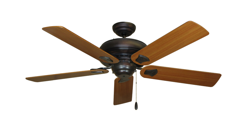 "Picture of Tiara Oil Rubbed Bronze with 52"" Teak Blades"