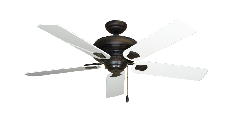 """Picture of Tiara Oil Rubbed Bronze with 52"""" Pure White Gloss Blades"""