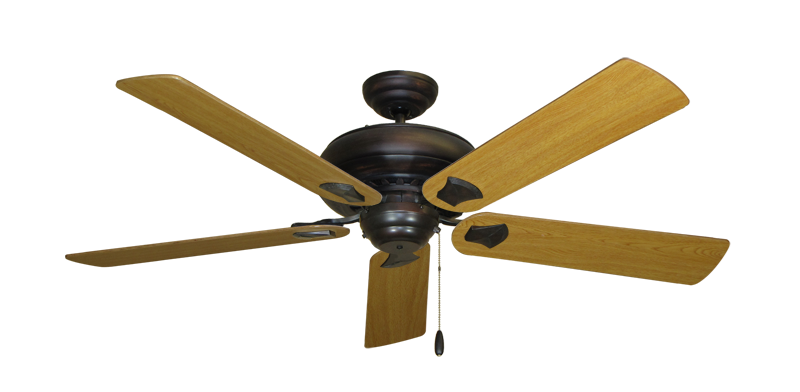 "Picture of Tiara Oil Rubbed Bronze with 56"" Honey Oak Blades"