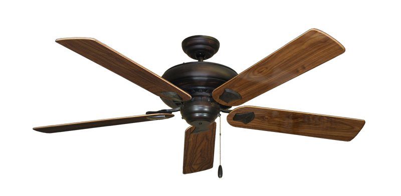 "Picture of Tiara Oil Rubbed Bronze with 56"" Walnut Gloss Blades"