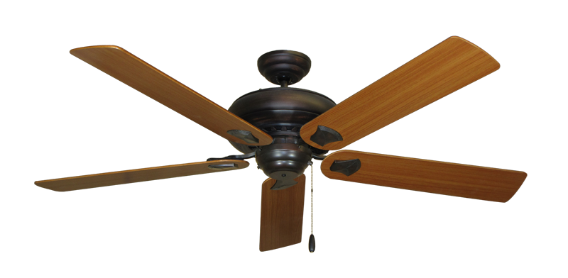 """Picture of Tiara Oil Rubbed Bronze with 60"""" Teak Blades"""
