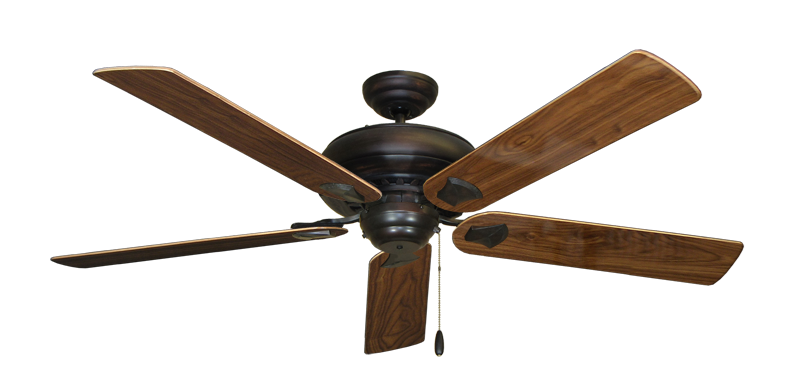 "Picture of Tiara Oil Rubbed Bronze with 60"" Walnut Gloss Blades"