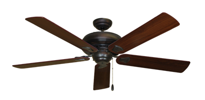 "Picture of Tiara Oil Rubbed Bronze with 60"" Walnut Blades"