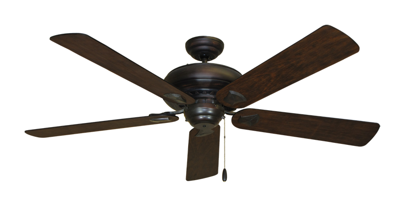 """Picture of Tiara Oil Rubbed Bronze with 60"""" Distressed Hickory Blades"""