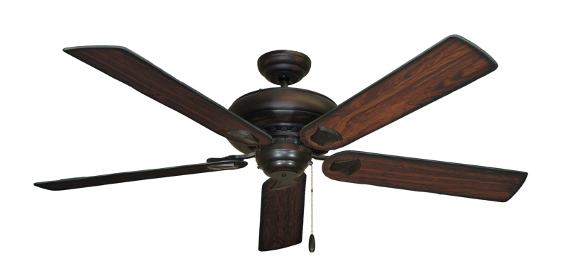 "Picture of Tiara Oil Rubbed Bronze with 60"" Burnt Cherry Blades"