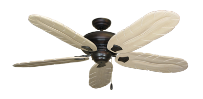 """Picture of Tiara Oil Rubbed Bronze with 58"""" Series 500 Arbor Whitewash Blades"""