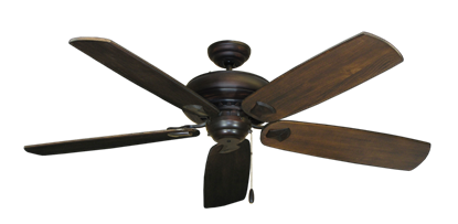 """Picture of Tiara Oil Rubbed Bronze with 60"""" Series 725 Arbor Dark Walnut Blades"""