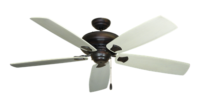 """Picture of Tiara Oil Rubbed Bronze with 60"""" Series 725 Arbor Whitewash Blades"""