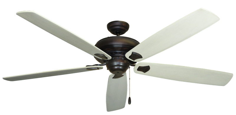 "Picture of Tiara Oil Rubbed Bronze with 72"" Series 750 Arbor Whitewash Blades"