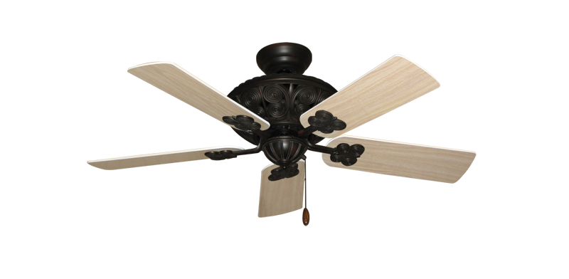 """Picture of Monarch Oil Rubbed Bronze with 44"""" Bleached Oak Blades"""