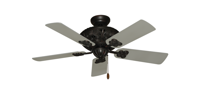 """Picture of Monarch Oil Rubbed Bronze with 44"""" Satin Steel (painted) Blades"""