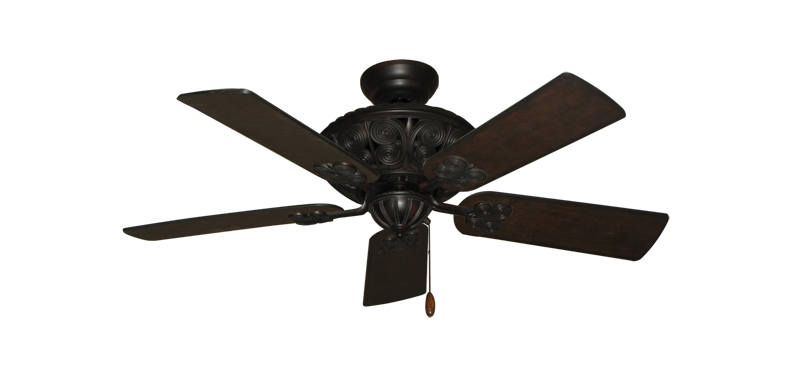 "Picture of Monarch Oil Rubbed Bronze with 44"" Distressed Walnut Blades"