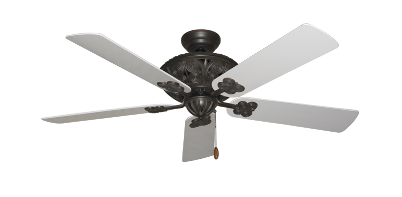 """Picture of Monarch Oil Rubbed Bronze with 52"""" Pure White Blades"""