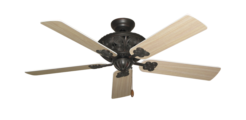 """Picture of Monarch Oil Rubbed Bronze with 52"""" Bleached Oak Blades"""