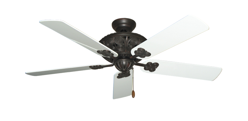 """Picture of Monarch Oil Rubbed Bronze with 52"""" Pure White Gloss Blades"""