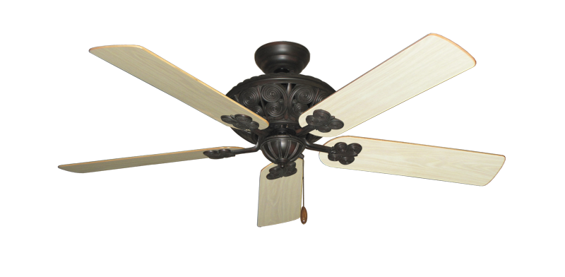 "Picture of Monarch Oil Rubbed Bronze with 52"" Bleached Oak Gloss Blades"