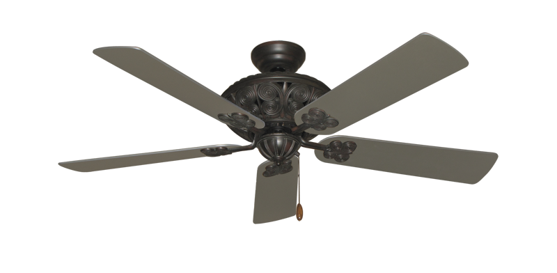"Picture of Monarch Oil Rubbed Bronze with 52"" Satin Steel (painted) Blades"