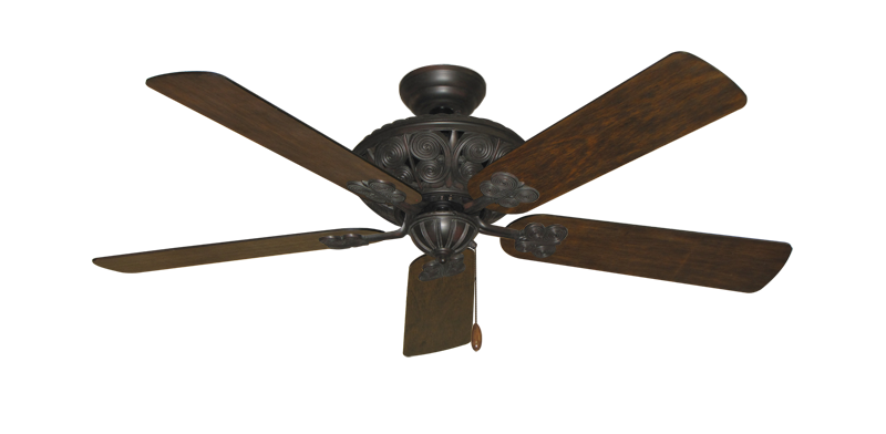 "Picture of Monarch Oil Rubbed Bronze with 52"" Distressed Walnut Blades"