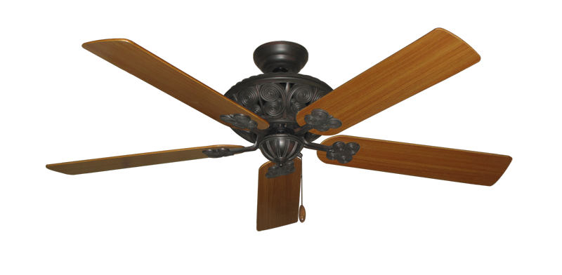 "Picture of Monarch Oil Rubbed Bronze with 56"" Teak Blades"