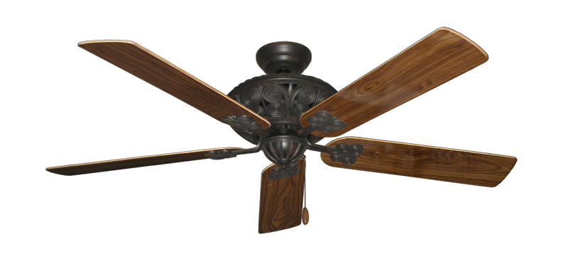 "Picture of Monarch Oil Rubbed Bronze with 56"" Walnut Gloss Blades"