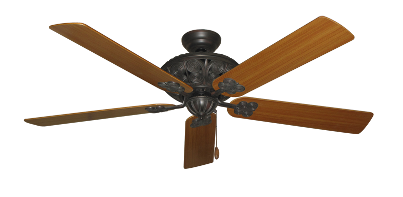 """Picture of Monarch Oil Rubbed Bronze with 60"""" Teak Blades"""