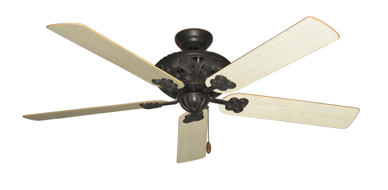 "Picture of Monarch Oil Rubbed Bronze with 60"" Bleached Oak Gloss Blades"