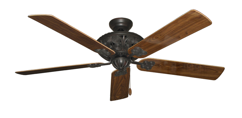 """Picture of Monarch Oil Rubbed Bronze with 60"""" Walnut Gloss Blades"""