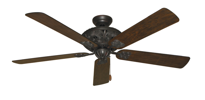 """Picture of Monarch Oil Rubbed Bronze with 60"""" Distressed Walnut Blades"""