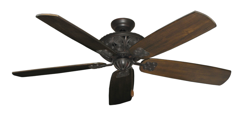 "Picture of Monarch Oil Rubbed Bronze with 60"" Series 725 Arbor Dark Walnut Blades"
