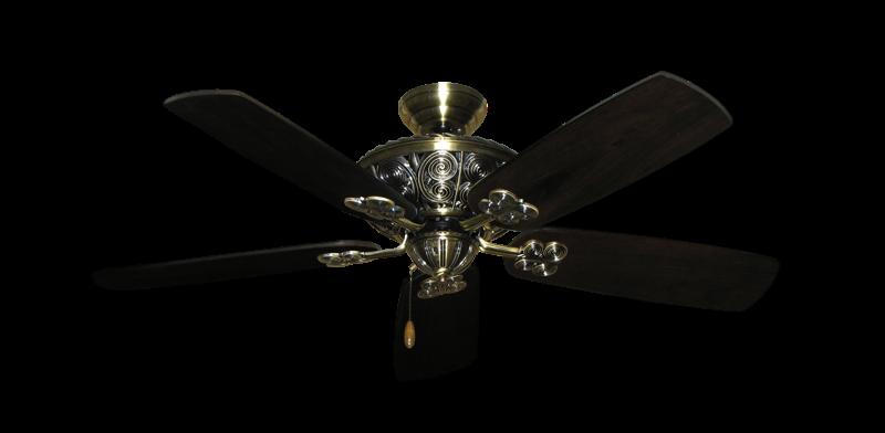"""Picture of Monarch Antique Brass with 52"""" Series 710 Arbor Dark Walnut Blades"""
