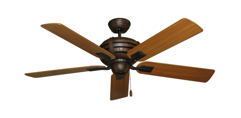"Picture of Madeira Oil Rubbed Bronze with 52"" Teak Blades"