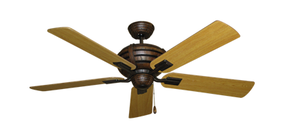"""Picture of Madeira Oil Rubbed Bronze with 52"""" Honey Oak Blades"""