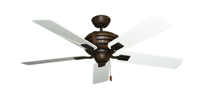 """Picture of Madeira Oil Rubbed Bronze with 52"""" Pure White Gloss Blades"""