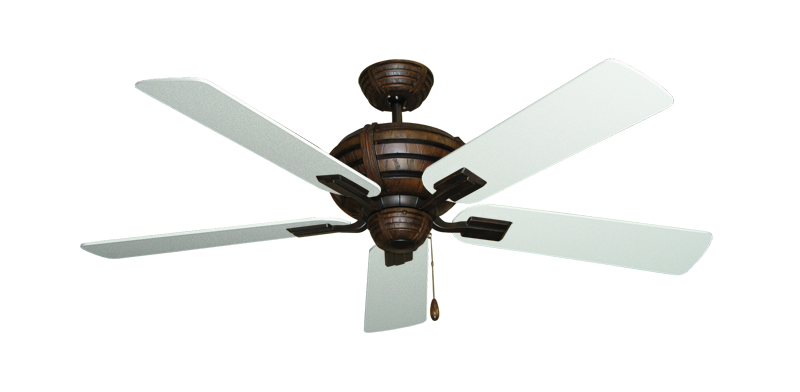 """Picture of Madeira Oil Rubbed Bronze with 52"""" Textured White Blades"""