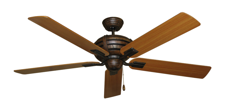 "Picture of Madeira Oil Rubbed Bronze with 60"" Teak Blades"