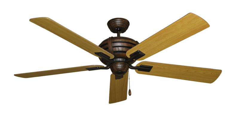 """Picture of Madeira Oil Rubbed Bronze with 60"""" Honey Oak Blades"""
