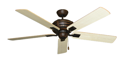 "Picture of Madeira Oil Rubbed Bronze with 60"" Bleached Oak Gloss Blades"