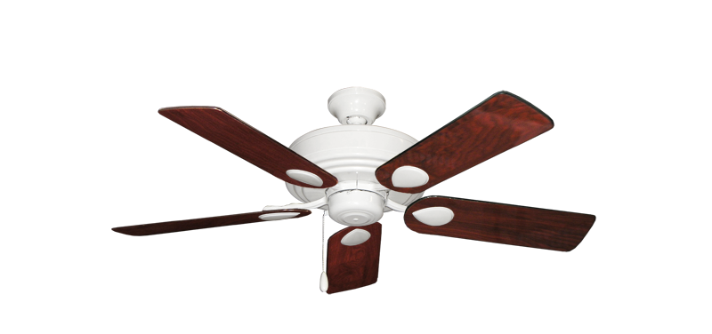 """Picture of Futura Pure White with 44"""" Cherrywood Gloss Blades"""