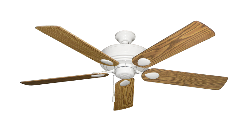 """Picture of Futura Pure White with 56"""" Oak Gloss Blades"""
