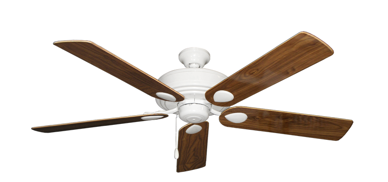 """Picture of Futura Pure White with 56"""" Walnut Gloss Blades"""