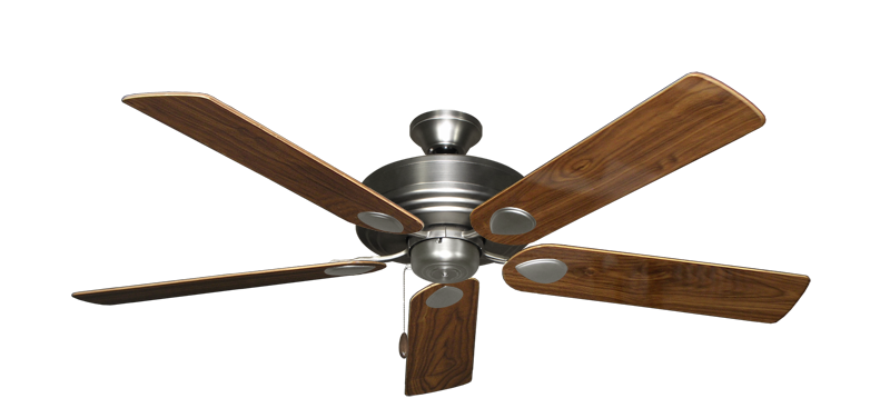 """Picture of Futura Satin Steel with 56"""" Walnut Gloss Blades"""